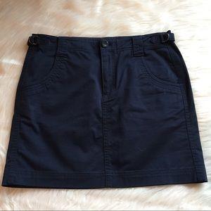 Athleta organic cotton stretch skirt navy blue 4